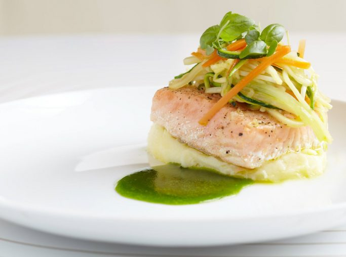 W Bogota Luxury Hotel - Bogota, Colombia - Gourmet Salmon Dish