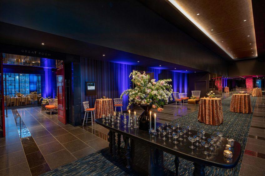 W Philadelphia Luxury Hotel - Philadelphia, PA, USA - W Wedding Reception