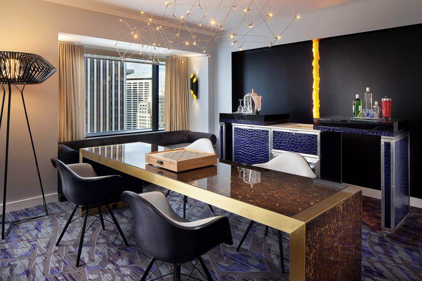 W Seattle Luxury Hotel - Seattle, WA, USA - Extreme WOW Suite Bar
