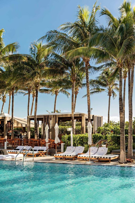 W South Beach Luxury Hotel - Miami Beach, FL, USA - Poolside