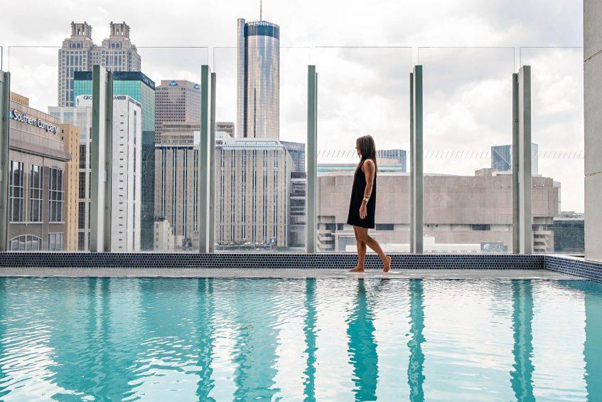 W Atlanta Downtown Luxury Hotel - Atlanta, Georgia, USA - WET Deck Outdoor Pool Style