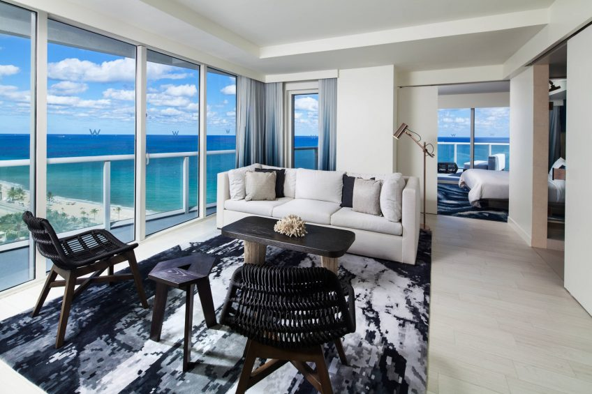 W Fort Lauderdale Luxury Hotel - Fort Lauderdale, FL, USA - Oasis Ocean Front Suite Living Area