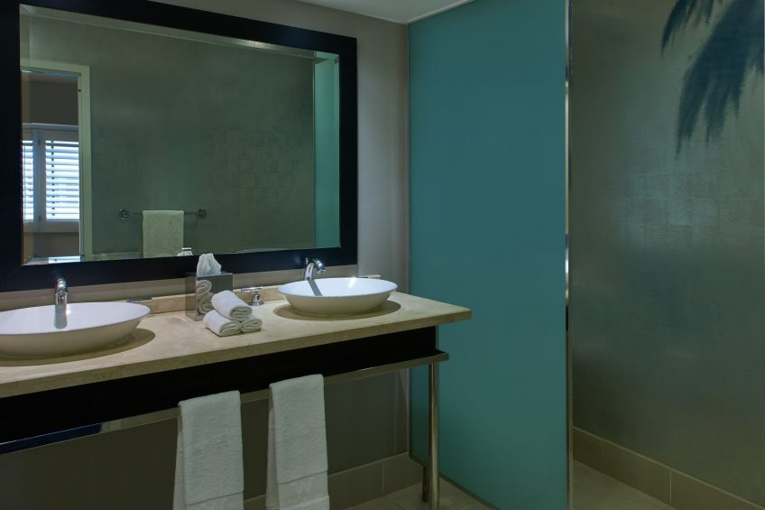 W Los Angeles West Beverly Hills Luxury Hotel - Los Angeles, CA, USA - Spectacular Guest Bathroom Vanity