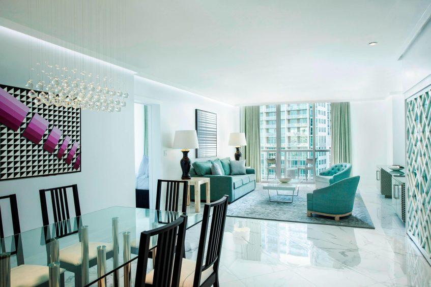 W Miami Luxury Hotel - Miami, FL, USA - Wow Suite Dining Room