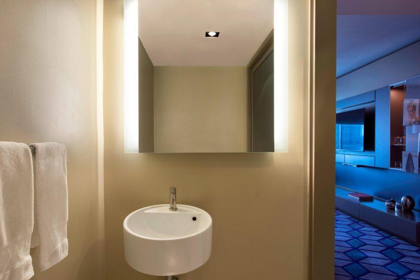 W New York Times Square Luxury Hotel - New York, NY, USA - Suite Bathroom Mirror