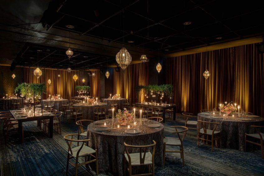 W Philadelphia Luxury Hotel - Philadelphia, PA, USA - W Wedding Reception Tables