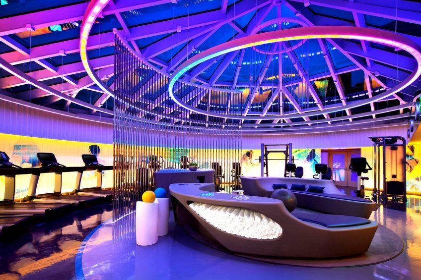 W San Francisco Luxury Hotel - San Francisco, CA, USA - FIT Gym Night Decor
