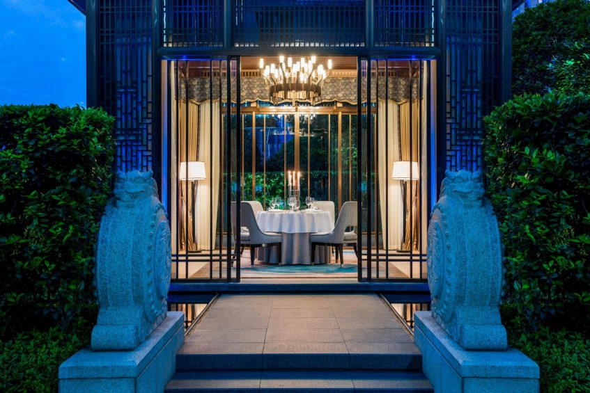The St. Regis Changsha Luxury Hotel - Changsha, China - Private Dining at 6F Garden Night