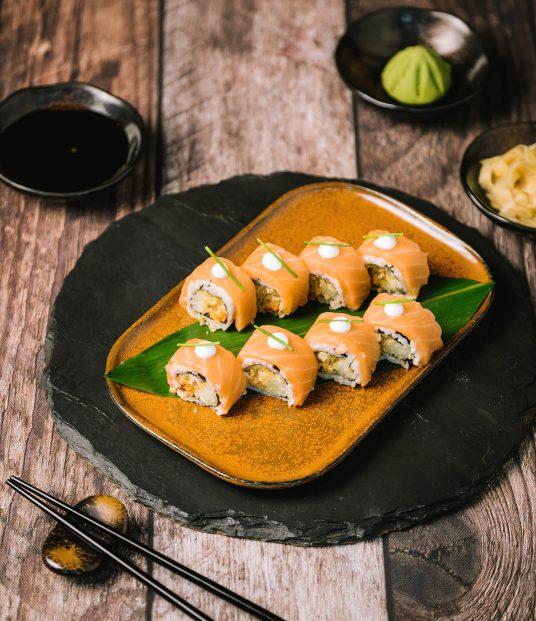 The St. Regis Mumbai Luxury Hotel - Mumbai, India - Crispy Salmon Maki