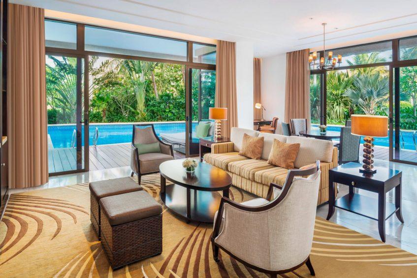 The St. Regis Sanya Yalong Bay Luxury Resort - Hainan, China - Lagoon One Bedroom Suite Living Room