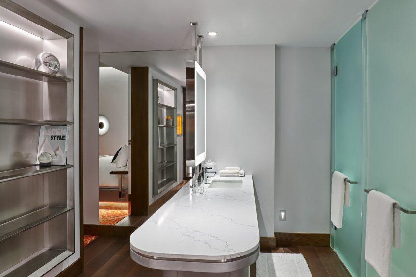 W Aspen Luxury Hotel - Aspen, CO, USA - Guest Bathroom Vanity