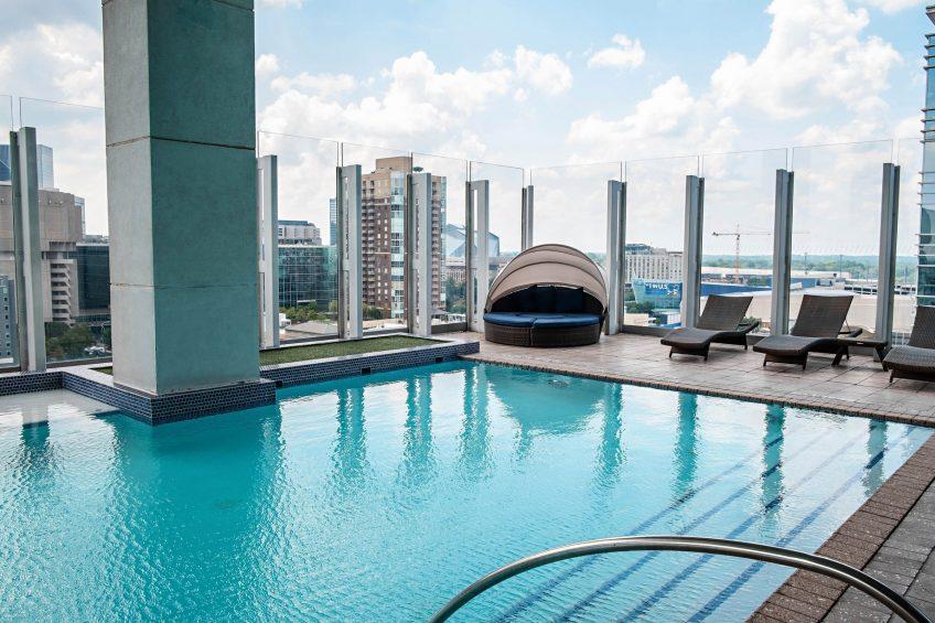 W Atlanta Downtown Luxury Hotel - Atlanta, Georgia, USA - WET Deck Outdoor Pool City View