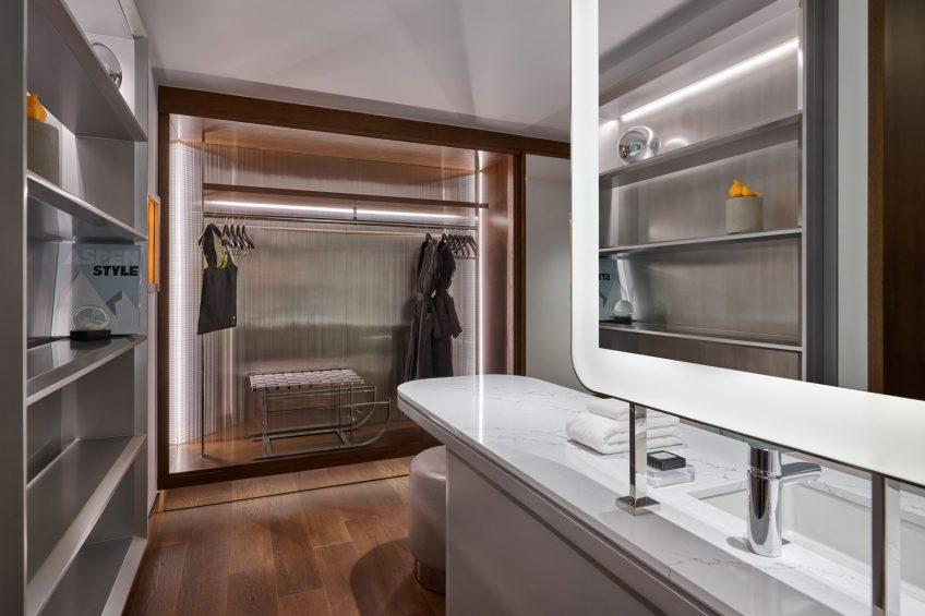 W Aspen Luxury Hotel - Aspen, CO, USA - Guest Bathroom Mirror
