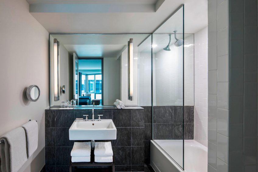 W Hoboken Luxury Hotel - Hoboken, NJ, USA - Guest Bathroom
