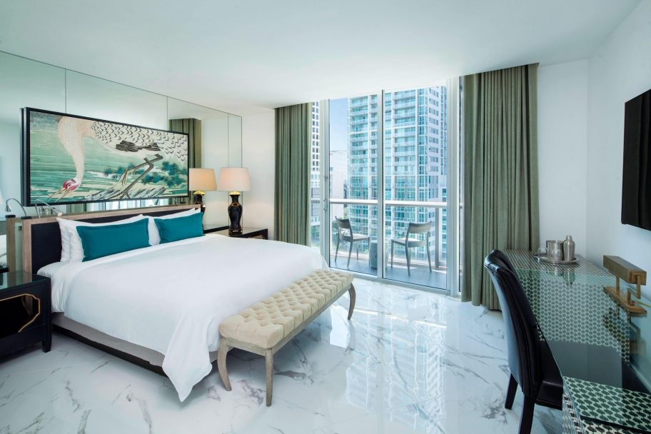 W Miami Luxury Hotel - Miami, FL, USA - Wow Suite Master Guest Bedroom