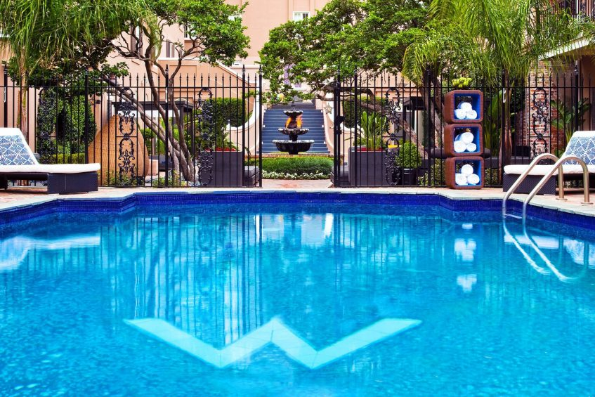 W New Orleans French Quarter Luxury Hotel - New Orleans, LA, USA - WET Deck Courtyard Pool
