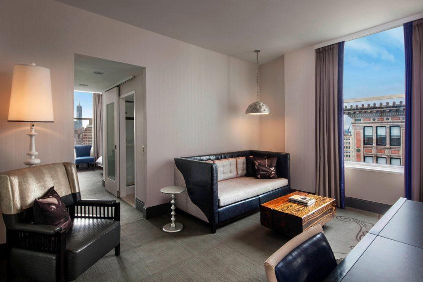 W New York Union Square Luxury Hotel - New York, NY, USA - Cool Corner Suite Living Room
