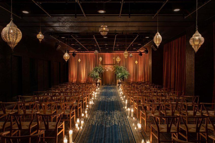 W Philadelphia Luxury Hotel - Philadelphia, PA, USA - W Wedding Ceremony Chairs