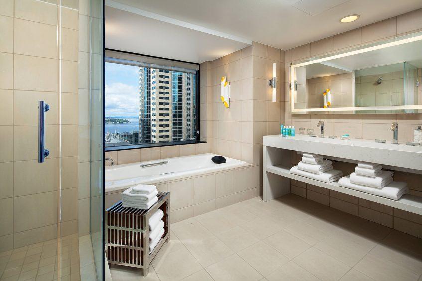 W Seattle Luxury Hotel - Seattle, WA, USA - Extreme WOW Suite Bathroom