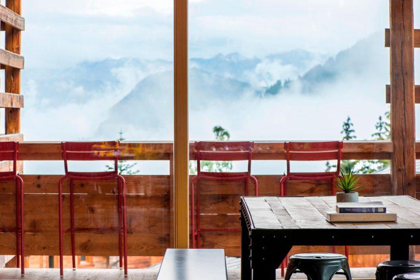 W Verbier Luxury Hotel - Verbier, Switzerland - Arctic Juice & Cafe view