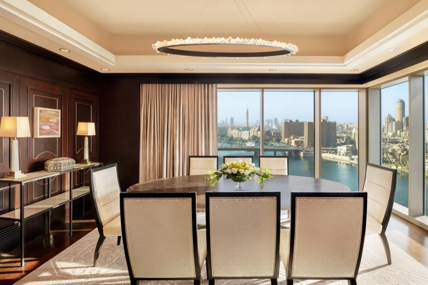 The St. Regis Cairo Luxury Hotel - Cairo, Egypt - Royal Suite Dining Room