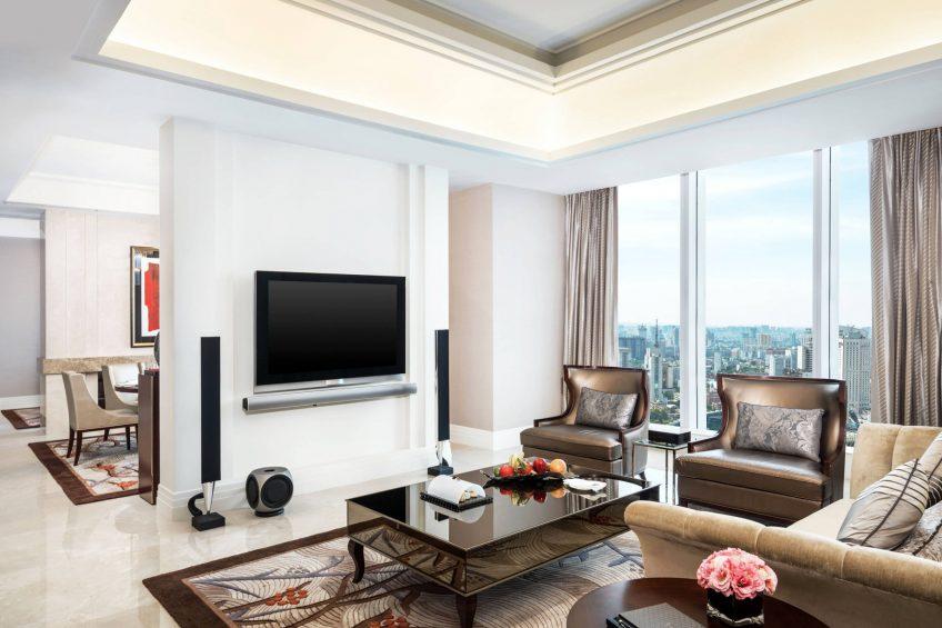 The St. Regis Chengdu Luxury Hotel - Chengdu, Sichuan, China - Empire Suite Living Area