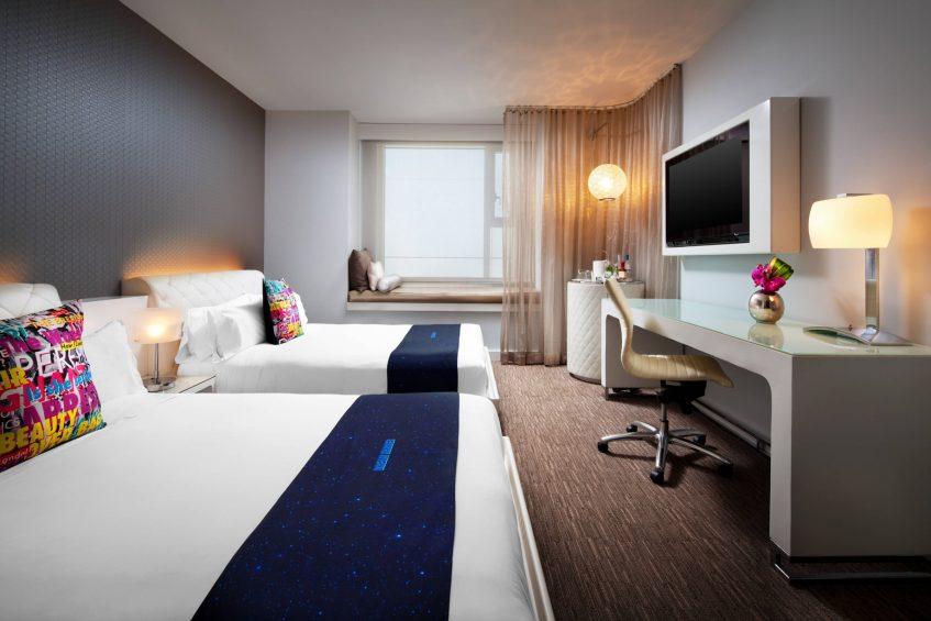 W Hollywood Luxury Hotel - Hollywood, CA, USA - Wonderful Double Guest Room
