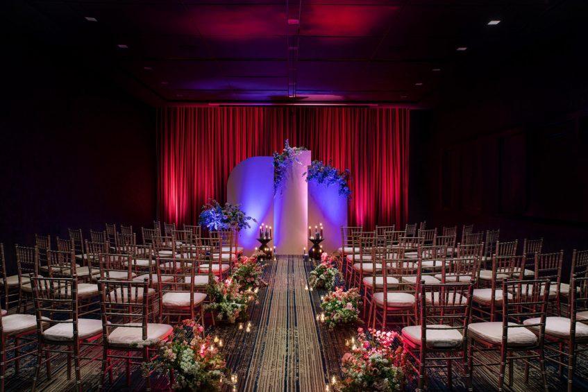 W Philadelphia Luxury Hotel - Philadelphia, PA, USA - W Wedding Ceremony