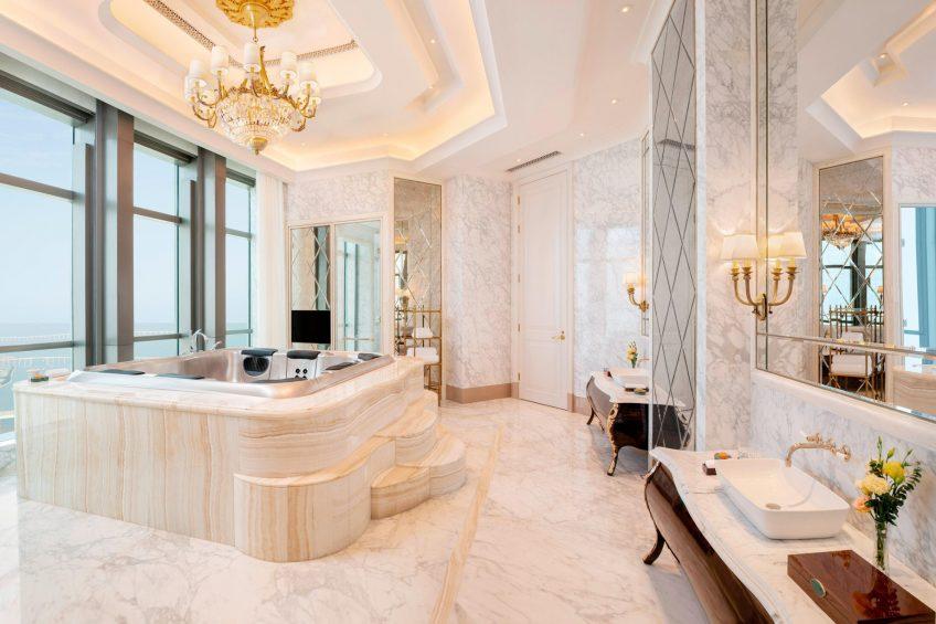 The St. Regis Zhuhai Luxury Hotel - Zhuhai, Guangdong, China - Presidential Suite Bathroom Whirlpool
