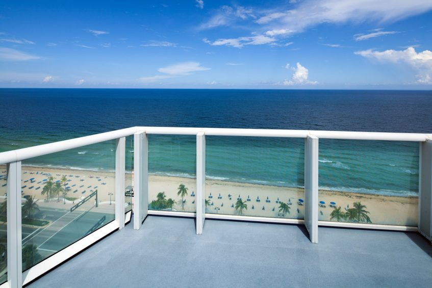 W Fort Lauderdale Luxury Hotel - Fort Lauderdale, FL, USA - Guest Room Oceanfront Balcony View