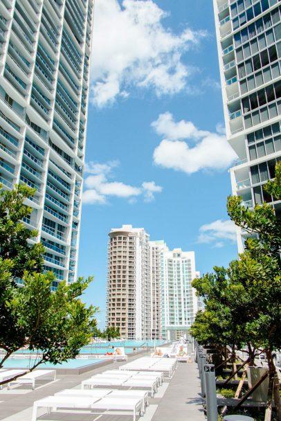 W Miami Luxury Hotel - Miami, FL, USA - WET Deck View