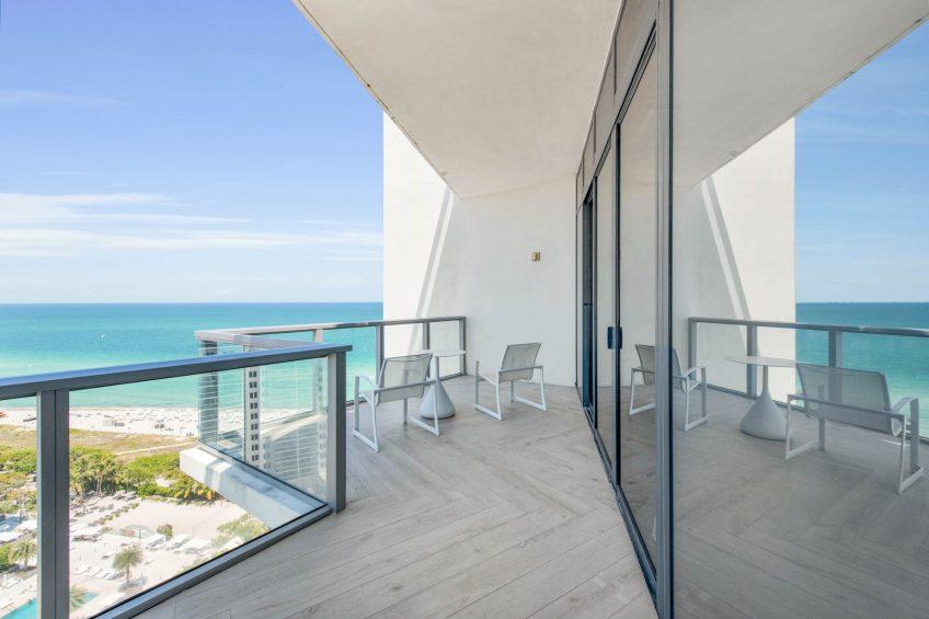 W South Beach Luxury Hotel - Miami Beach, FL, USA - Ocean View Penthouse Suite Balcony