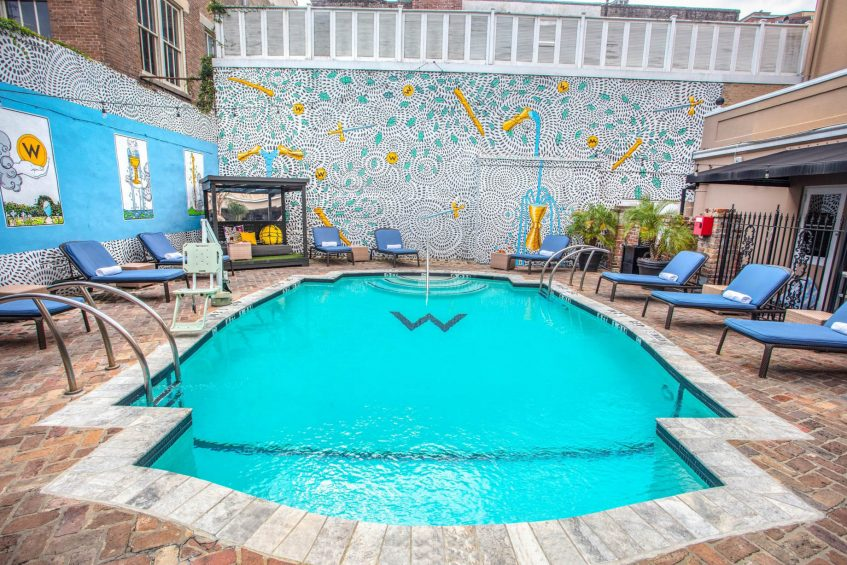 W New Orleans French Quarter Luxury Hotel - New Orleans, LA, USA - WET Deck Pool
