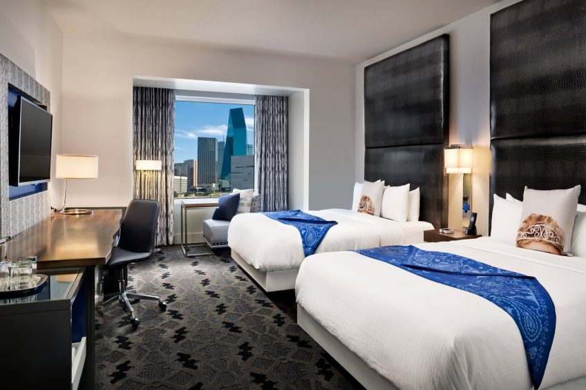 W Dallas Victory Luxury Hotel - Dallas, TX, USA - Wonderful Guest Room Queen Beds