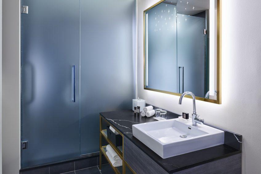 W Minneapolis The Foshay Luxury Hotel - Minneapolis, MN, USA - Guest Bathroom Vanity