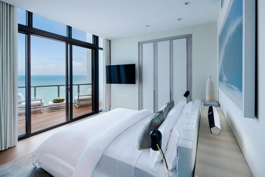 W South Beach Luxury Hotel - Miami Beach, FL, USA - Amplified Penthouse Suite Bedroom