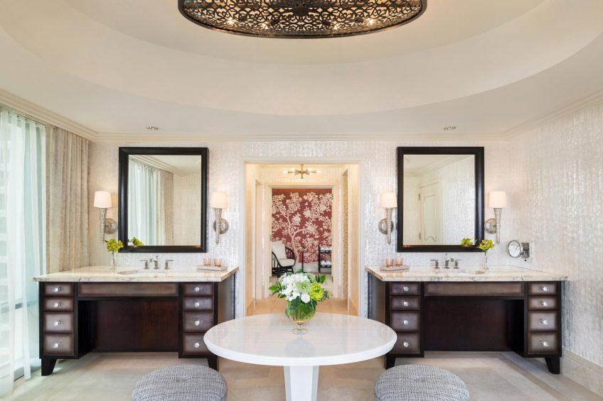 The St. Regis Cairo Luxury Hotel - Cairo, Egypt - Royal Suite Bathroom Vanities