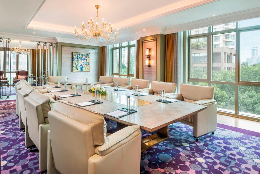 The St. Regis Shanghai Jingan Luxury Hotel - Shanghai, China - Executive Boardroom