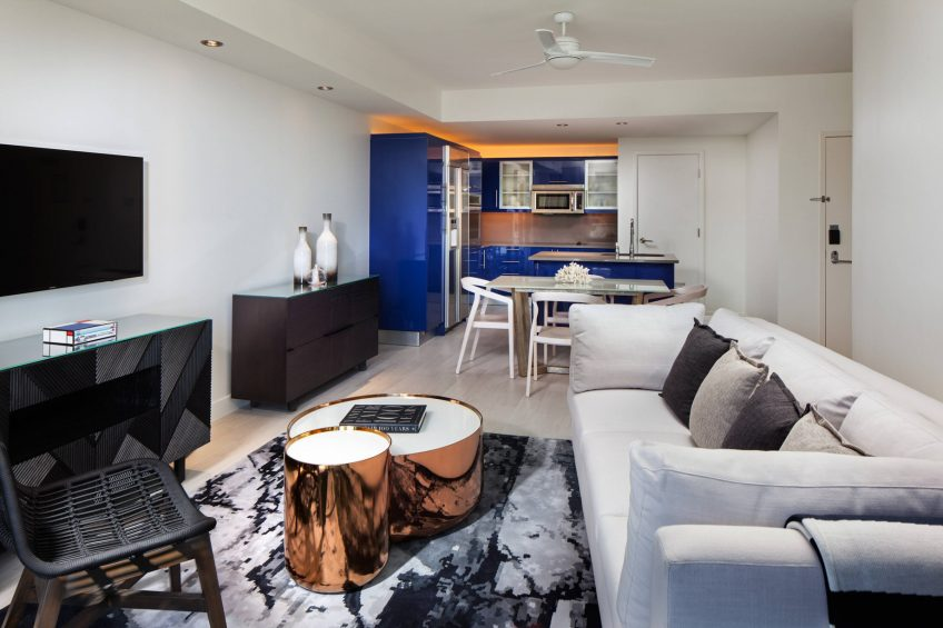 W Fort Lauderdale Luxury Hotel - Fort Lauderdale, FL, USA - Residential Suite Living Area Decor