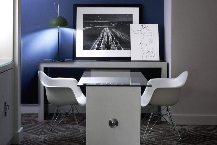 W Los Angeles West Beverly Hills Luxury Hotel - Los Angeles, CA, USA - Spectacular Suite Living Room Desk
