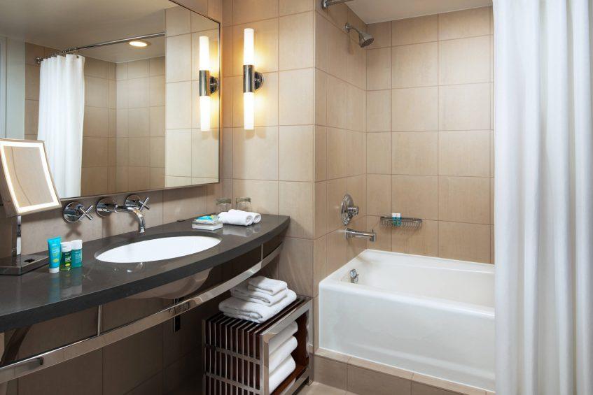W Seattle Luxury Hotel - Seattle, WA, USA - Guest Bathroom Shower and Tub