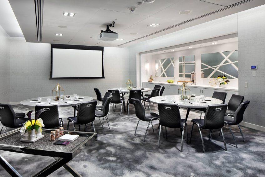W Bellevue Luxury Hotel - Bellevue, WA, USA - Studio Cabaret Setup