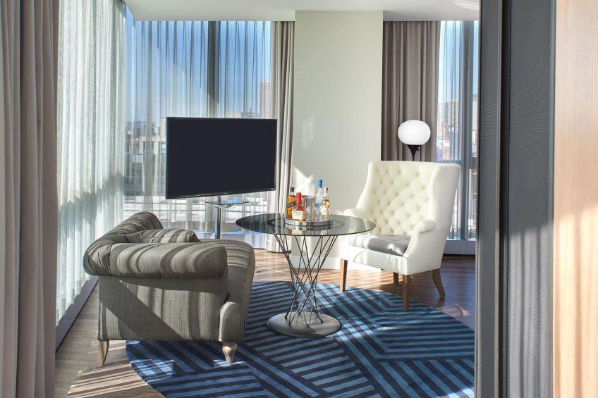 W Boston Luxury Hotel - Boston, MA, USA - Cool Corner Guest Room Seating