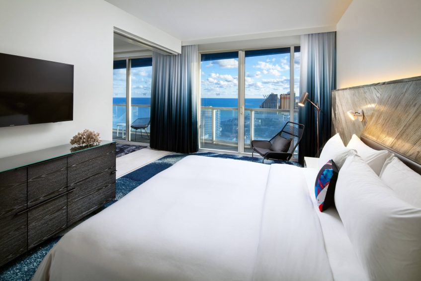 W Fort Lauderdale Luxury Hotel - Fort Lauderdale, FL, USA - Residential Suites Bedroom