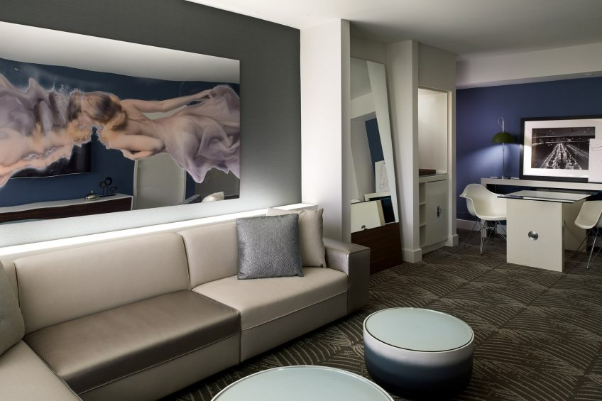 W Los Angeles West Beverly Hills Luxury Hotel - Los Angeles, CA, USA - Spectacular Suite Living Room