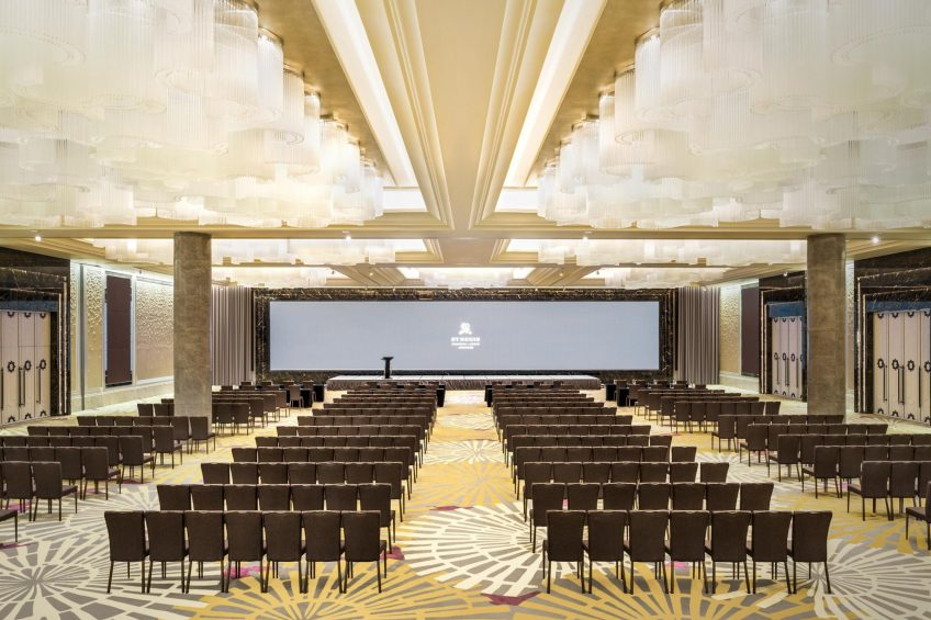 The St. Regis Shanghai Jingan Luxury Hotel - Shanghai, China - Astor Ballroom Theater Setup