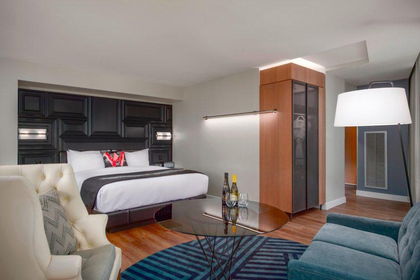 W Boston Luxury Hotel - Boston, MA, USA - Cool Corner Guest Room Style