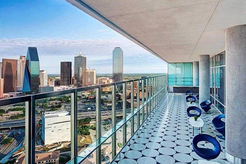 W Dallas Victory Luxury Hotel - Dallas, TX, USA - Altitude Terrace View Day