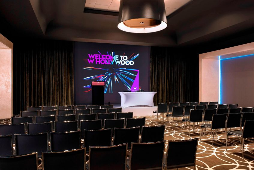 W Hollywood Luxury Hotel - Hollywood, CA, USA - Great Room Projection