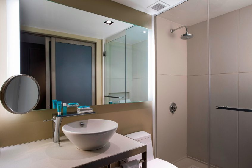 W New York Times Square Luxury Hotel - New York, NY, USA - Guest Bathroom